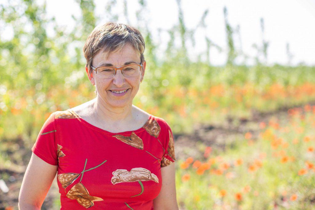 Picture of Ms. Jaroslava Bojkovská, a farmer who already engaged in poplar plantations
