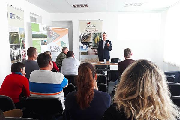 Balint Heil from Ökoforestino presenting the subsidy scheme of Hungary's Rural Development Program