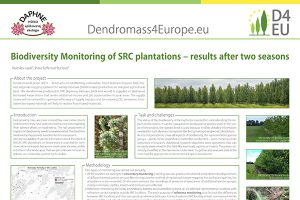 "Picture of the technical poster titled ""Biodiversity monitoring of SRC plantations – results after two seasons"""